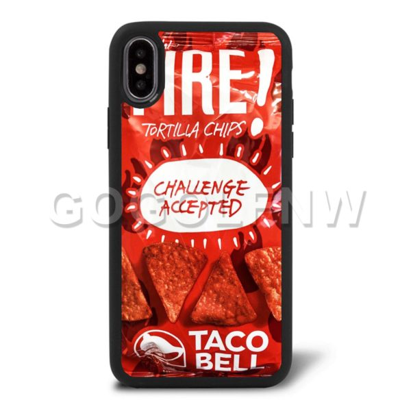 taco bell fire phone case