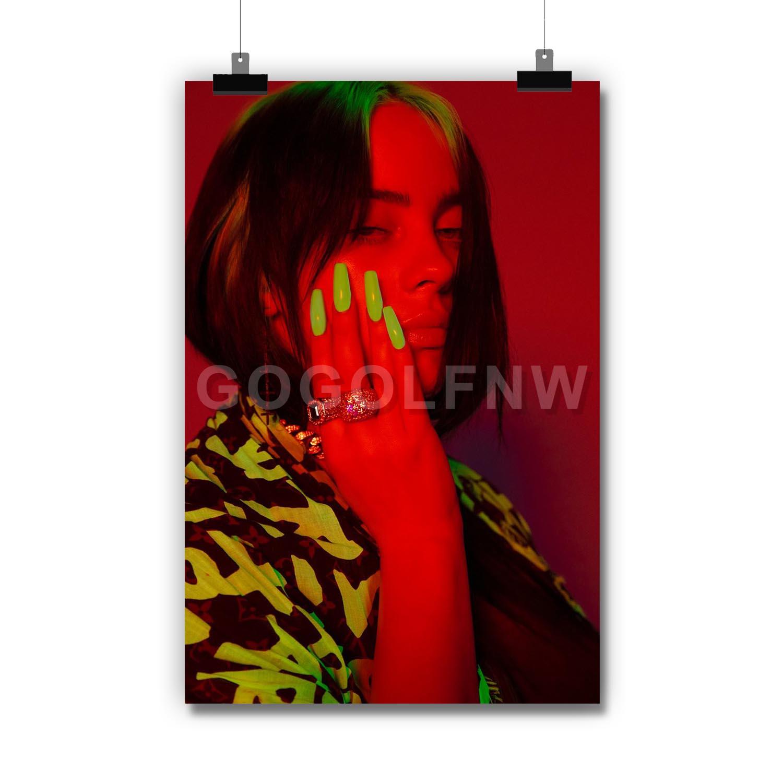 Billie Eilish New Silk Poster Custom Wall Decor
