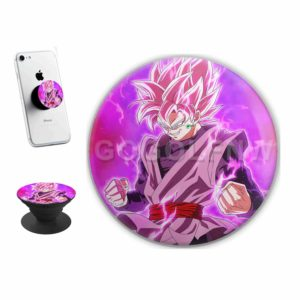 Black Super Saiyan Rose Sticker for PopSockets