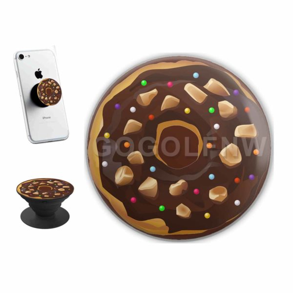 Chocolate Donut Sticker for PopSockets