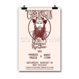 Chris Stapleton All America Road Show Poster Print Art Wall Decor