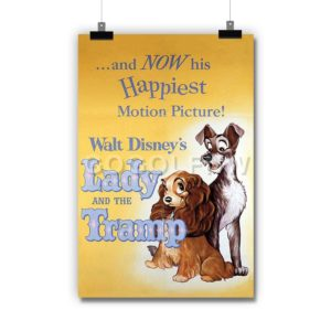 Disney Lady and The Tramp Poster Print Art Wall Decor