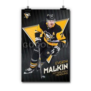 Evgeni Malkin Pittsburgh Penguins NHL Poster Print Art Wall Decor
