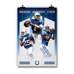 Indianapolis Colts NFL Poster Print Art Wall Decor