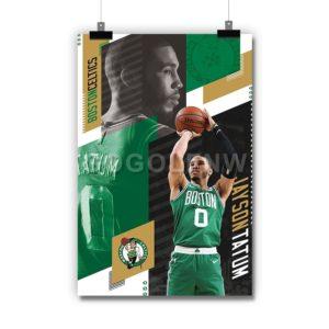 Jayson Tatum Boston Celtics NBA Poster Print Art Wall Decor