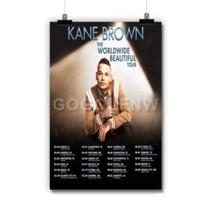 Kane Brown The Worldwide Beautiful Tour Poster Print Art Wall Decor