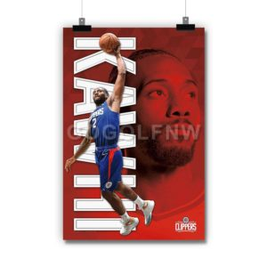 Kawhi Leonard Los Angeles Clippers NBA Poster Print Art Wall Decor