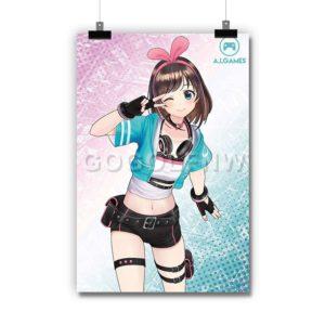 Kizuna Ai Dance Poster Print Art Wall Decor