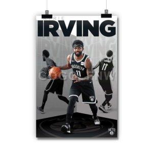 Kyrie Irving Brooklyn Nets NBA Poster Print Art Wall Decor
