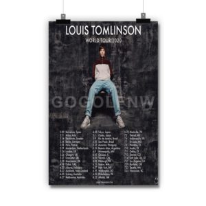 Louis Tomlinson World Tour 2020 Poster Print Art Wall Decor