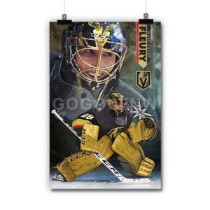 Marc- André Fleury Vegas Golden Knights NHL Poster Print Art Wall Decor