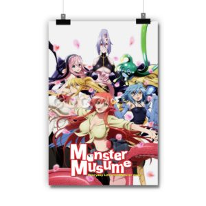 Monster Musume Everyday Life with Monsters Poster Print Art Wall Decor