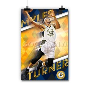 Myles Turner Indiana Pacers NBA Poster Print Art Wall Decor