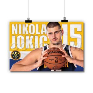 NBA Denver Nuggets Nikola Jokic Poster Print Art Wall Decor