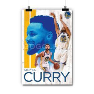 NBA Golden State Warriors Stephen Curry Poster Print Art Wall Decor
