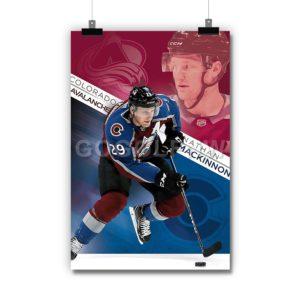 Nathan MacKinnon Colorado Avalanche NHL Poster Print Art Wall Decor