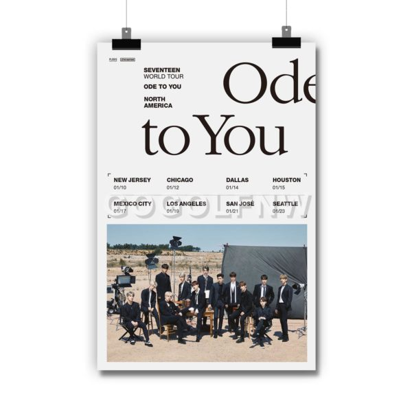 SEVENTEEN World Tour ODE TO YOU Poster Print Art Wall Decor
