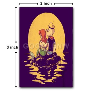 The Mermaid and The Sailor Fridge Magnet Refrigerator