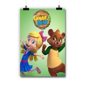 Goldie & Bear Poster Print Art Wall Decor