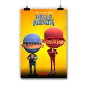 Hello Ninja Poster Print Art Wall Decor