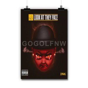 Key Glock Look At They Face Poster Print Art Wall Decor