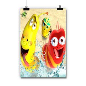 Larva Island Poster Print Art Wall Decor