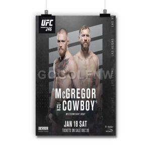 McGregor vs Cowboy Poster Print Art Wall Decor