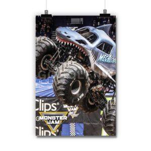 Megalodon Monster Jam Truck Poster Print Art Wall Decor