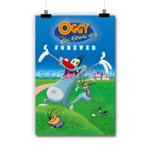 Oggy and the Cockroaches Poster Print Art Wall Decor