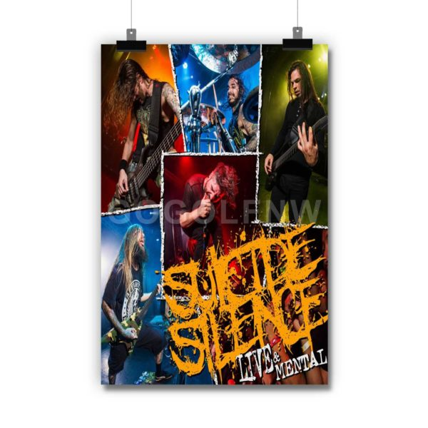 Suicide Silence Live & Mental Poster Print Art Wall Decor