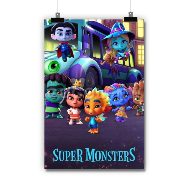 Super Monsters Monster Pets Poster Print Art Wall Decor