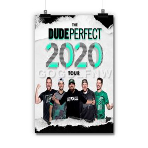 The Dude Perfect 2020 Tour Poster Print Art Wall Decor
