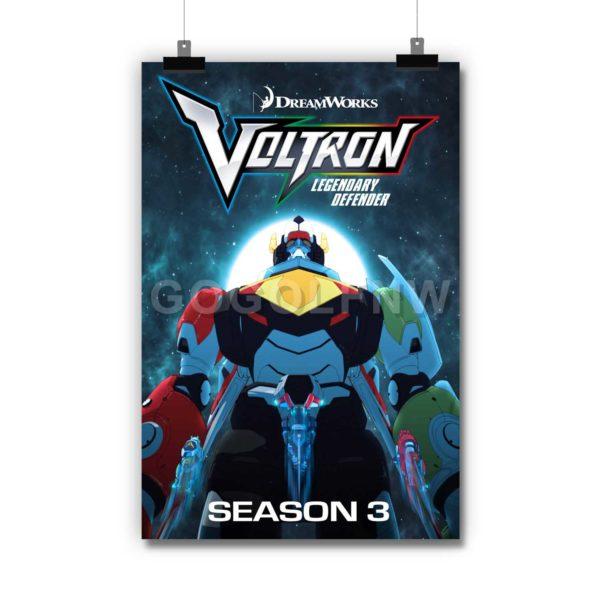 Voltron Legendary Defender Poster Print Art Wall Decor